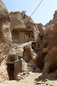 700-year-old cafe dwellings Kandovan, Iran