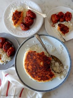 Food for thought: Περσικο ρύζι με καστανή κρούστα Persian Rice, Golden Crust, Buffet, French Toast, Breakfast, Recipes, Food, Morning Coffee, Buffets