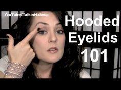 Hooded eye make up tips Hooded Eyelids, Eyeliner For Hooded Eyes, Hooded Eye Makeup, How To Apply Eyeliner, How To Apply Makeup, Makeup For Green Eyes, Blue Eye Makeup, Eye Makeup Tips, Smokey Eye Makeup