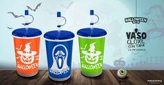 Vaso cloxe azul Productos Promocionales Halloween. Proimpo
