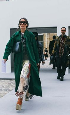 Véronique Tristam spotted on the street at Paris Fashion Week. Photographed by Phil Oh.