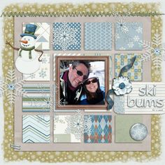 Digital Scrapbooking layout created with First Snow by Mad Genius Designs and Carin Grobe Design.