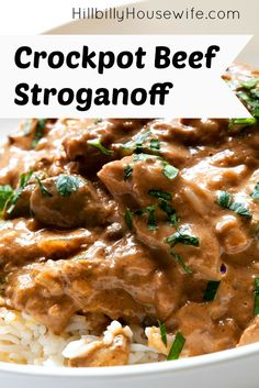 Crockpot Beef Stroganoff Recipe. Easy to make. Great over pasta or rice. This is a family favorite.