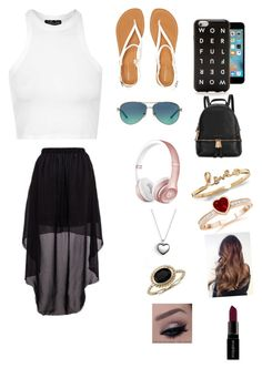 """""""Going to California in summer🙂😍👍🏿🤗"""" by zaicute on Polyvore featuring beauty, Topshop, Aéropostale, Michael Kors, J.Crew, Tiffany & Co., Pandora, Blue Nile and Smashbox"""
