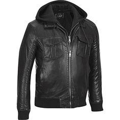 Black Rivet Mens Big & Tall Faux-Leather Military Style Hooded Bomber Jacket 2XL Black Rivet http://www.amazon.com/dp/B00OQJ91K6/ref=cm_sw_r_pi_dp_XVJbwb080JAR8