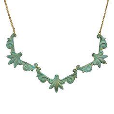 Trois Points Necklace... #mint #antique #gold https://twitter.com/DazzleMeDeals