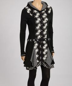 Take a look at this Black Floral Hooded Jacket by Fantazia on #zulily today!  I want it. . .