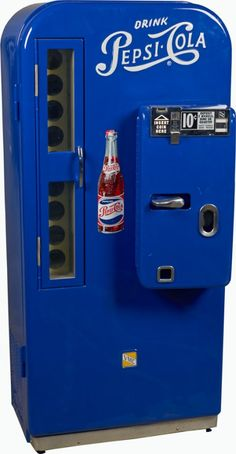 10 Cent VMC Pepsi-81 Bottle Vending Machine c1950's