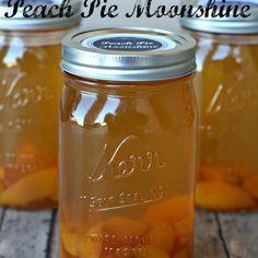 Peach Pie Moonshine Recipe Beverages, Desserts with peach juice, peaches in heavy syrup, granulated sugar, cinnamon sticks, everclear, peach schnapps