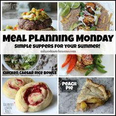 Meal Planning Monday #187