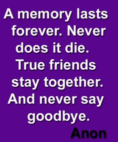 Good Friends Never Say Goodbye The Say See You Soon Friendship