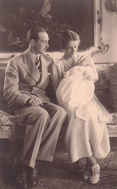 Princess Theodora and Berthold of Baden with their 1st child, Princess Margarita, named after Theodora's older sister.