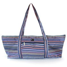 Aurorae Yoga Mat Tote Bag, Extra Wide to Fit Most Yoga Mats and Accessories, in Navy Coated Woven Multicolor Pattern Aurorae http://www.amazon.com/dp/B010OHP3AA/ref=cm_sw_r_pi_dp_UFwqwb15HDSY0