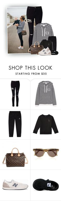 """Out Momin'"" by hollowpoint-smile ❤ liked on Polyvore featuring Miss Selfridge, The Upside, Ralph Lauren, Louis Vuitton, Illesteva, New Balance and Vans"