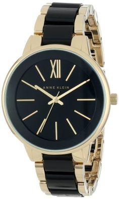 Love the Roman Numeral 12: Anne Klein Women's AK/1412BKGB Gold-Tone and Black Dress Watch Anne Klein,http://www.amazon.com/dp/B00ELS4BRK/ref=cm_sw_r_pi_dp_Vs7mtb0APPKA6GBX