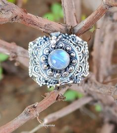 Blue Friday, Poison Ring, Malachite Jewelry, Rainbow Moonstone Ring, Valentines Jewelry, Labradorite Ring, Blue Rings, 925 Silver, Gemstone Rings