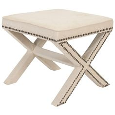 House of Hampton Tally Ottoman Upholstery: Antique Gold