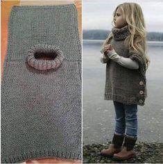「こどもポンチョ 袖 編み図」の画像検索結果