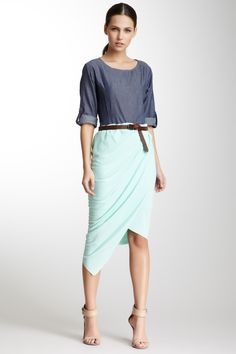 Wrap Skirt - I don't like the shirt but that skirt is everything.