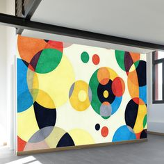 Wall Murals from WallsNeedLove Mural Painting, Mural Art, Wall Murals, School Murals, School Painting, Murals Street Art, Geometric Wall, Vinyl Wall Art, Art Lesson Plans