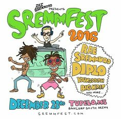 Rae Sremmurd's second annual SremmFest gets under way in Tupelo, Mississippi on December at BancorpSouth Arena. Expect performances from Slim Jxmmi and Swae Lee (Rae Sremmurd), Diplo, Young Dolph, Big K. Rae Sremmurd, Back Home, Mississippi, Hip Hop, Bring It On, Presents, Hero, Comics, Instagram