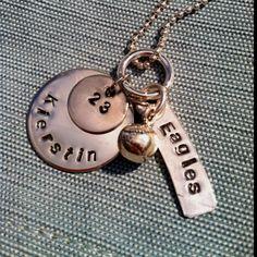 Kierstin's Charley Charm softball necklace. Sweet!!