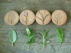 Bringen Sie den Kräutergarten im Haus ganzjährig Runde. Diese Kräuter-Magnete werden von Hand geschnitten aus Steinzeug Ton und Verwendung frischer Kräuter direkt aus dem Garten, die erdigen Abdrücke zu machen. Sie sind mit einem antiqued Fleck. Jeder Satz von 4 enthält: Thymian, Rosmarin, Kamille und Salbei  Nicht nur hübsch, hält jeden schweren Magneten bis zu 10 Blatt Papier Notebook.  Magnete kommen dafür perfekt verpackt. Ein tolles Geschenk für Garten & Natur-Liebhaber!  Maße: 1 3/8…