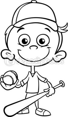 beisbol coloring pages - photo#12