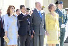 El presidente Enrique Peña Nieto y Angélica Rivera, invitados de honor de los Reyes de España