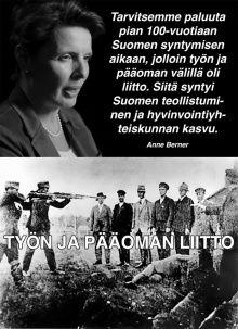 Ministeri Anne Bernerin unelma