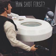 Star Wars - Han shot first? Http://RivalVinyl.com #rivalvinyl #kickstarter #steampunk #starwars #designertoy #vinyltoy #vinyltoys #arttoy #urbantoy