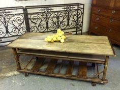 """Industrial Cart Reclaimed Wood Coffee Table   57.5"""" Wide x 23"""" Deep x 22"""" Tall   Parkhouse Antiques  114 Parkhouse  Dallas, TX 75207  Call for appointment.  Read more: http://dallas.ebayclassifieds.com/tables/dallas/industrial-cart-reclaimed-wood-coffee-table/?ad=40153769#ixzz3eqvPasWo"""