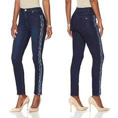 by Diane Gilman Virtual Stretch Vintage Embroidered Skinny Jean - Basic Colors - Blue Jeans Price, Shoes With Jeans, Weekend Style, Basic Colors, Skinny Jeans, Comfy, My Style, Dec 8, Casual