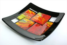 Fused Glass Plate by DKglassshop on Etsy, $135.00  ---Looking at this plate makes me happy.  It is sooo pretty!!
