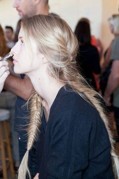 Backstage at Tory Burch Spring 2013. Photo courtesy of The Cut.