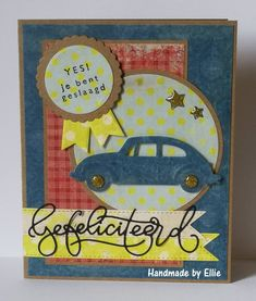 Marianne Design Cards, Masculine Cards, Diy Cards, Banners, December, Handmade, Volkswagen, Cards, Hand Made