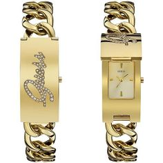 GUESS STEEL watch only,Gold-Tone ID Bracelet with Self-Adjustable Bracelet. Made of stainless steel for durability, not made of Alloy. GUESS Ladies, one watch only. Fossil Watches, Rolex Watches, Elegant Watches, Id Bracelets, Rose Gold Jewelry, Adjustable Bracelet, Square Watch, Gold Watch, Accessories