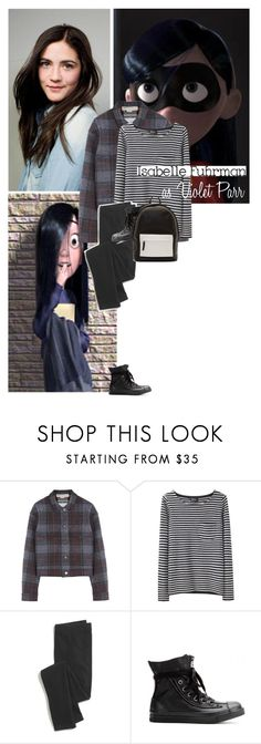 """""""Violet Parr"""" by heyyoumofo ❤ liked on Polyvore featuring Disney, Beautiful People, STELLA McCARTNEY, A.P.C., Madewell, Converse, PB 0110, disney, TheIncredibles and violetparr"""
