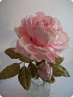 Флористика искусственная Моделирование конструирование Розочка садовая Фоамиран фом фото 1