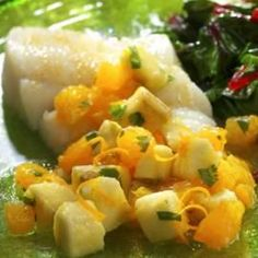 Roasted Halibut with Banana-Orange Relish-High Blood Pressure Diet Recipes and Menus Healthy Banana Recipes, Diabetic Recipes, Diabetic Foods, Easy Recipes, Summer Recipes, Quick Fish, High Blood Pressure Diet, Relish Recipes, Diet