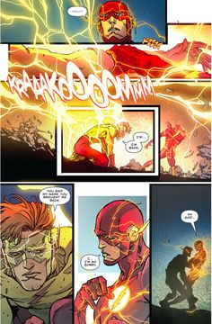 Barry Allen Remembers Wally West (The Flash Rebirth) Flash Comics, Marvel Dc Comics, Flash Comic Book, Dc Speedsters, Drawing Superheroes, Flash Barry Allen, Wally West, Kid Flash, Comic Page