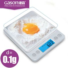 GASON Z1s Kitchen scales Mini pocket portable stainless steel precision jewelry electronic Balance weight gold grams(3000gx0.1g)