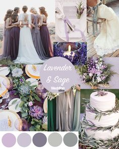 Lavender Sage Wedding Scheme Inspo Wedding Ideas regarding Wedding Themes Lavender - Wedding Party Ideas Lavender Wedding Colors, Vintage Wedding Colors, Lavender Weddings, Lavender Wedding Decorations, Purple And Green Wedding, May Wedding Colors, Gray Weddings, Wedding Ideas Purple, September Wedding Colors