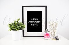 Artwork Mockup for prints 11 styled stock by BrownLeopard on Etsy
