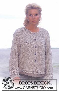Free knitting patterns and crochet patterns by DROPS Design Sweater Knitting Patterns, Crochet Cardigan, Knitting Stitches, Knitting Yarn, Free Knitting, Knit Crochet, Crochet Patterns, Drops Design, Magazine Drops