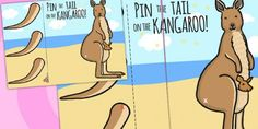 Pin The Tail On The Xmas Kangaroo - christmas, activities Australian Party, Australian Christmas, Morning Activities, Party Activities, Christmas Activities, Australia Crafts, Australia Day, Toddler Party Games, Games For Toddlers