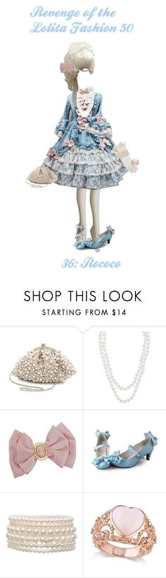"""Revenge of the Lolita Fashion 50: Rococo"" by sakuuya ❤ liked on Polyvore featuring Santi, Henri Bendel, Roman, Allurez, lolita, rococo, angelicpretty, victorianmaiden and rococololita"