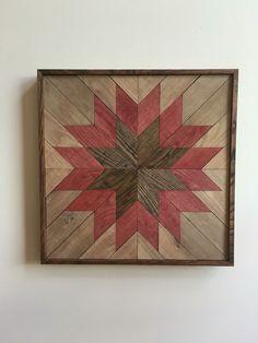 Wood Wall Art - Wooden Wall Hanging Quilt Design, Quilt Pattern Wood, Rustic Wall Art, Reclaimed Wall Art, Rustic Quilt, Quilt Pattern