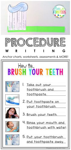 instructions on how to brush your teeth ks1