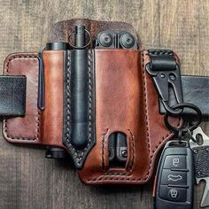 Leather Holster, Leather Tooling, Leather Case, Pu Leather, Leather Belts, Cowhide Leather, Edc Belt, Leather Projects, Bags